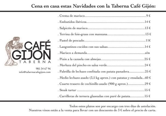Taberna Café Gijón te lleva la navidad a Casa
